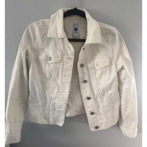 Gap Stretch Girl's White Jean Jacket